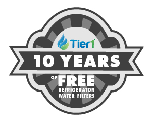 10 Years Free Refrigerator Water Filters From Tier1