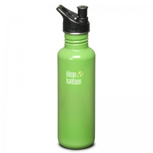 Klean Kanteen Green Stainless Steel Water Bottle