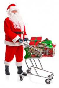 Santa Claus Shopping For Refrigerator Water Filters