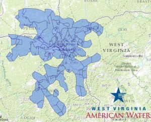 West Virginia American Water Map Providing The All Clear