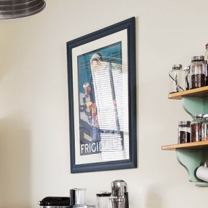 Kitchen Remodeling Idea - Hang Vintage Wall Art