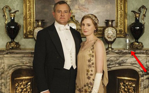 Downton Abbey Promotional Shot With Errant Water Bottle