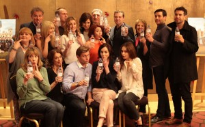 Stars of Downton Abbey Pose With Water Bottles For WaterAid UK